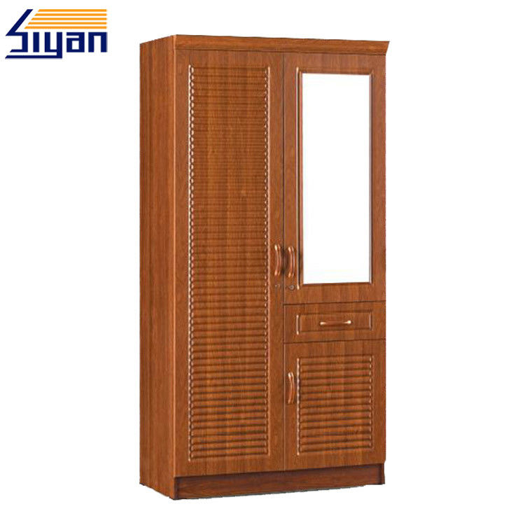 Bedroom Furniture Shutter Style Wardrobe Doors PVC Surface OEM ODM Service