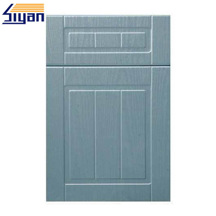 Replacing MDF board material Kitchen Cabinet Doors Pressed by Solid Colors PVC Film